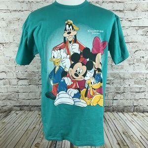 VTG Disney T-Shirt Size Large Green Florida Size L